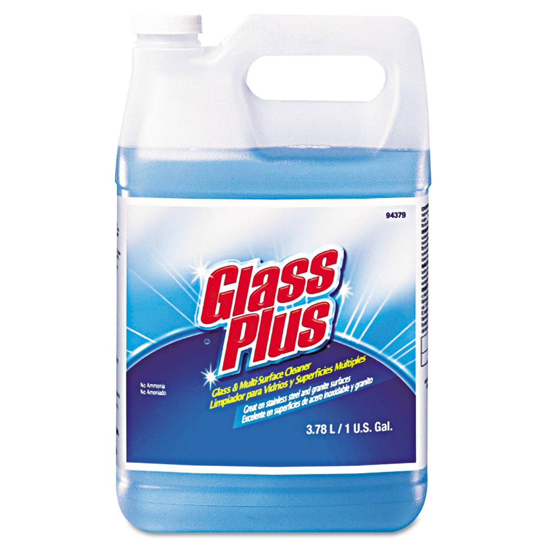 Glass Plus Glass Cleaner, 1 gal, Blue, PK4