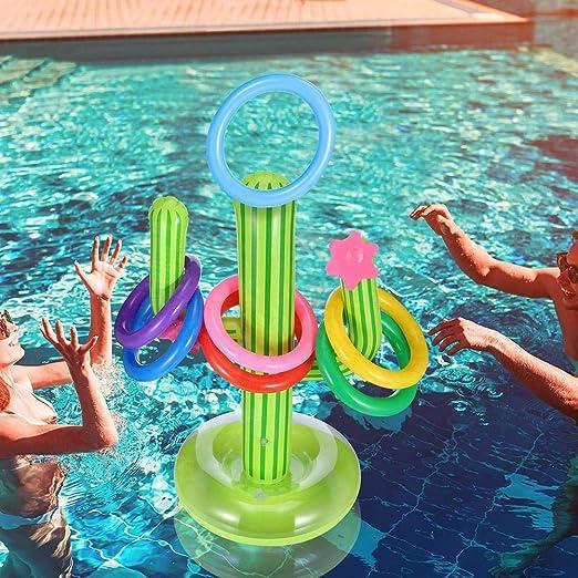 per Cactus Inflable Flotante Anillo de natación Juego de ...