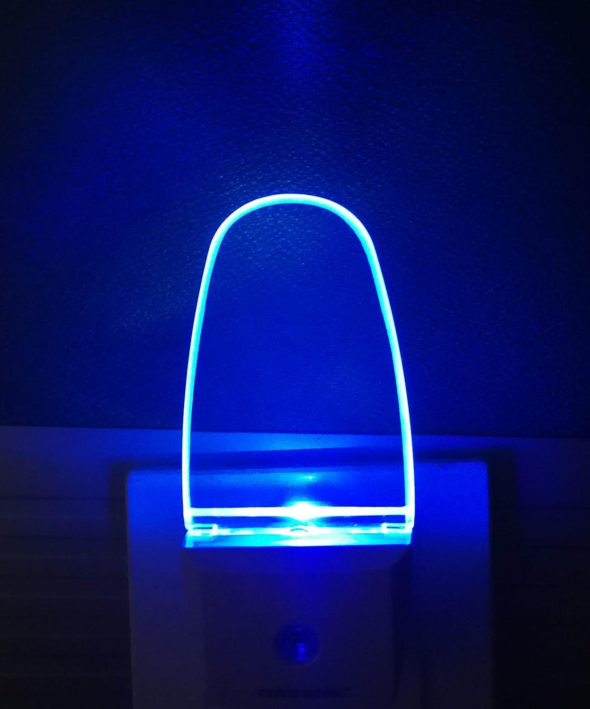 Greenic 2 Pezzi Led Luce Notturna Da Presa Con Sensore Crepuscolare Automatico Luce Notte Bambini 0 5 W Risparmio Energetico Per Camera Da Letto Blu Illuminazione Luci Notturne