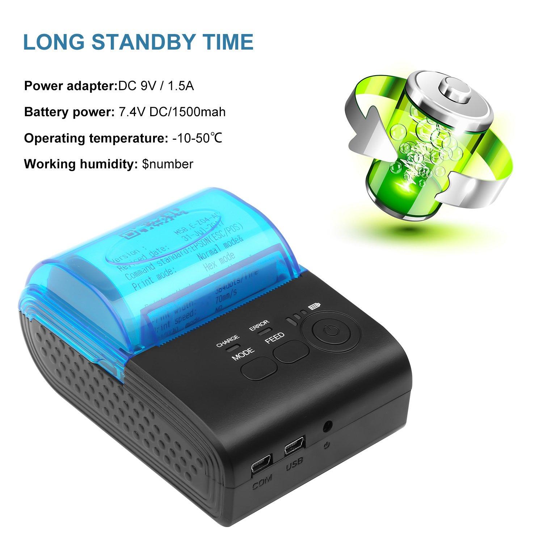 LivePow Bluetooth Thermal Printer, Portable Mini Wireless