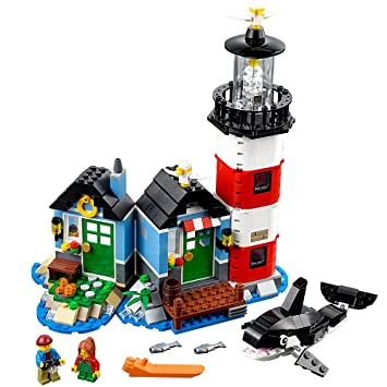Amazon.com: LEGO Creator Lighthouse Point 31051 Building Toy: Toys ...
