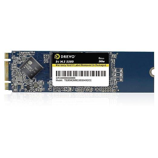 631 opinioni per DREVO D1 M.2 2280 240GB interno SSD Memoria a Stato Solido Lettura 500MB/S