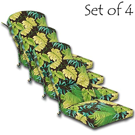 SET OF 4 Outdoor Dining Chair Cushion 46u0026quot; X 20u0026quot; X 4.5u0026quot; (