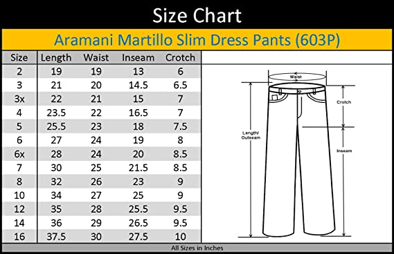 Amazon.com: Armani Martillo Boys Flat Front Waist Slim Fit Dress ...
