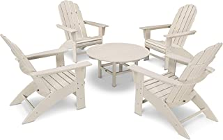 product image for POLYWOOD Vineyard 5-Piece Oversized Adirondack Chair Conversation Set
