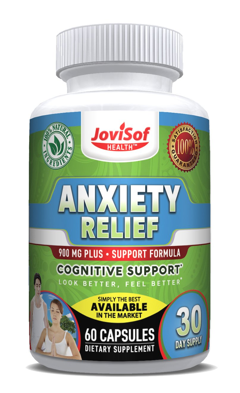 Anxiety Relief Supplement With 5-HTP, Ashwagandha and Artichoke | Soothing Stress Support & Mood Enhancer | All Natural Anti-Anxiety Supplements | Calm Sleeping Pills | 60 Count