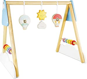 Le Toy Van Hot Air Balloon Baby Gym Premium Wooden Toys for Kids Ages 2 Months & Up