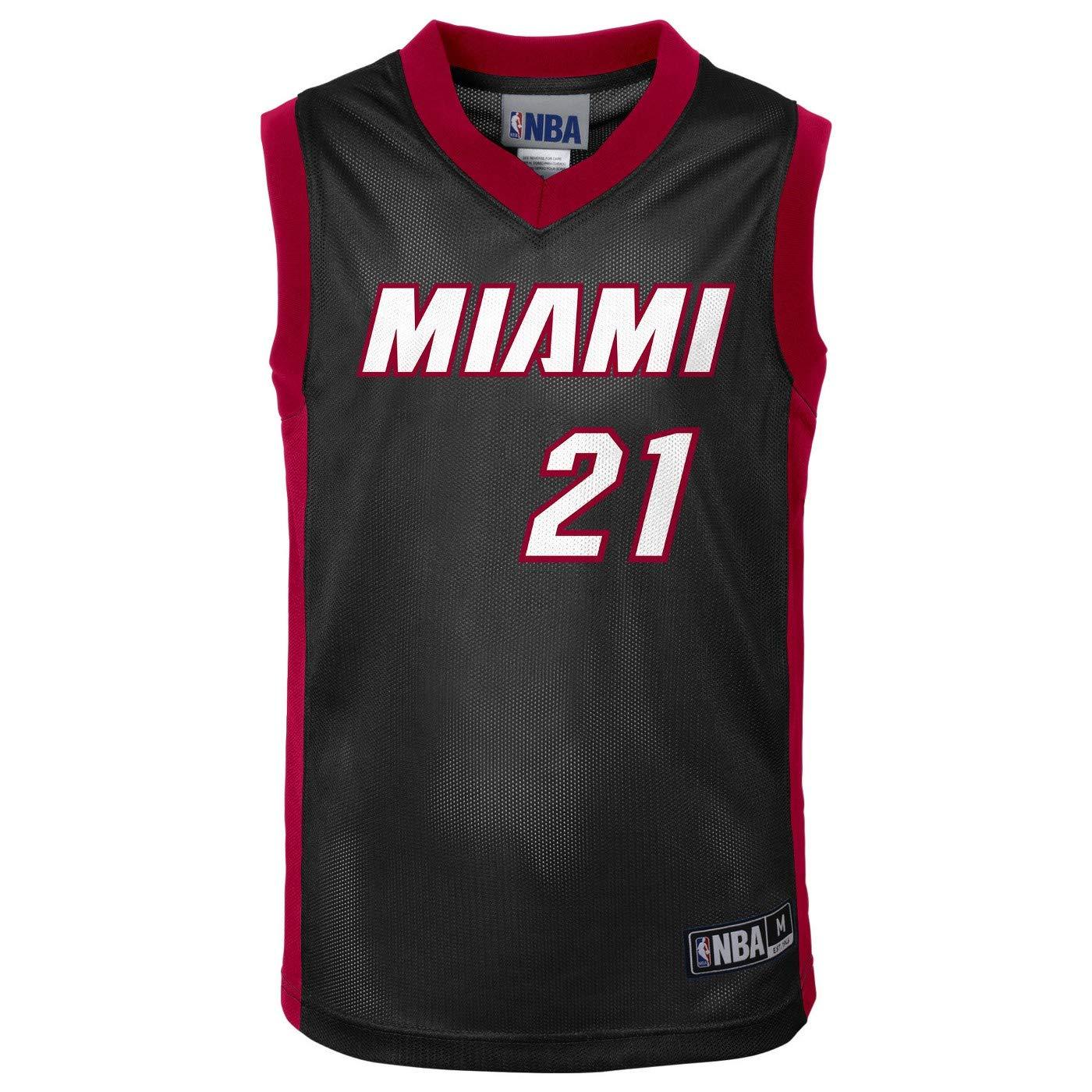 Amazon com: Outerstuff Hassan Whiteside Miami Heat #21 Black
