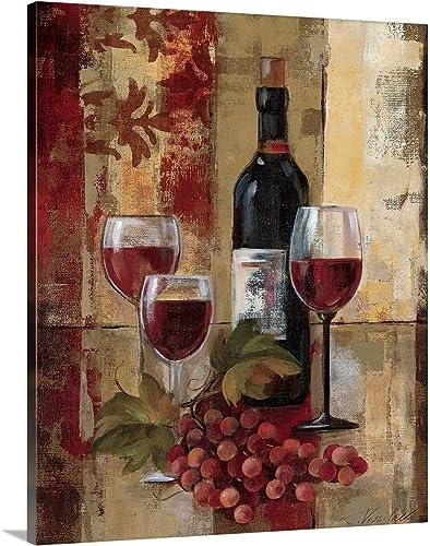 Graffiti and Wine II Canvas Wall Art Print
