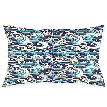 Amazon.com: YABABY Funda de almohada, diseño étnico azteca ...