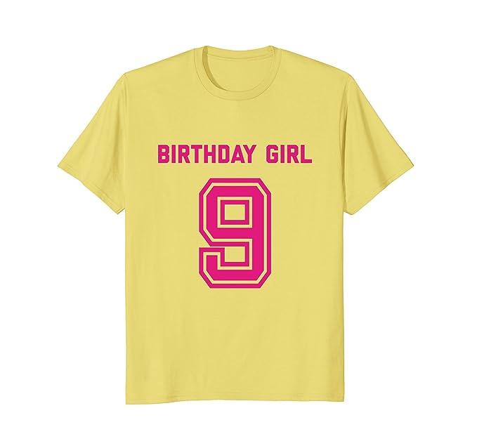 Mens 9th Birthday Shirt Gift Age 9 Year Old Girl Tshirt Girls Tee 2XL Lemon