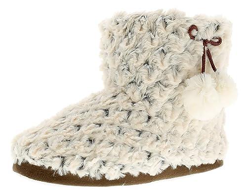 NUEVO mujer beis Zapatillas con pompones en el lateral - BEIS - GB Tallas 3-9 - Beige, 37: Amazon.es: Zapatos y complementos