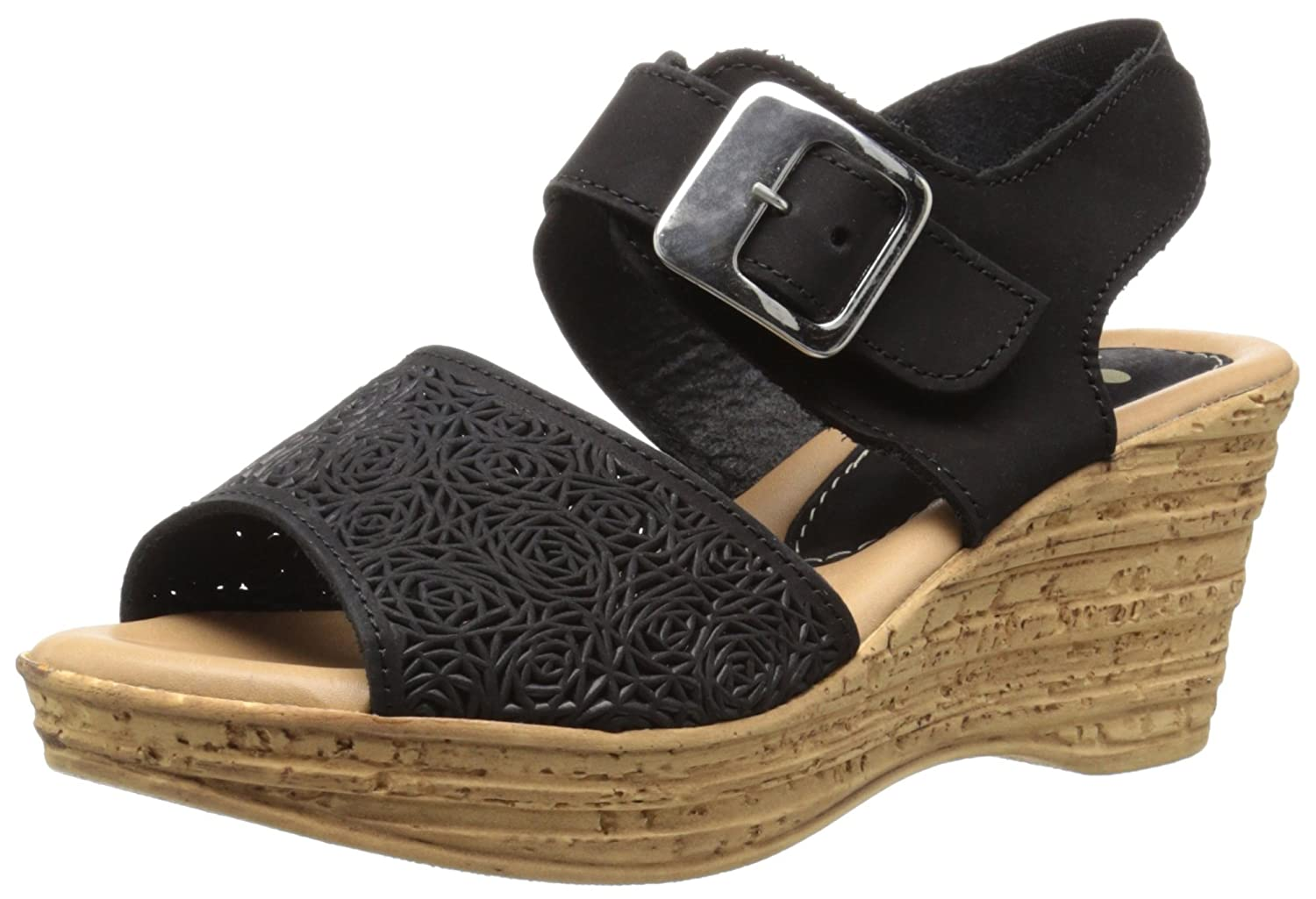 Spring Step Women's MITU Wedge Sandal B015RAKAWA 40 M EU / 9 B(M) US|Black