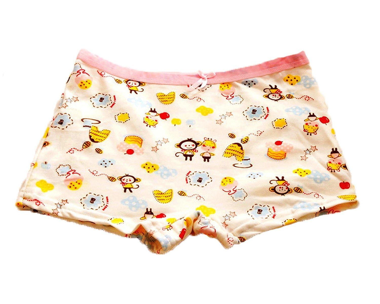 FAIRYRAIN 4 Packung Baby Kleinkind M/ädchen Cartoon B/är Pantys Hipster Shorts Spitze Baumwollunterhosen Unterw/äsche