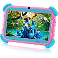 AILEHO Kids Tablet Toddlers Tablet for Kids Girls Learning Drawing with Kids Edition Tablet Case 7…