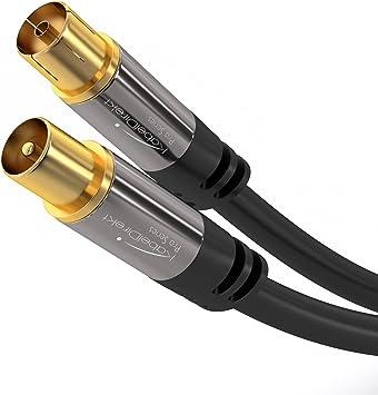 KabelDirekt 20m Cable Coaxial Antena, (Clase A, Soporta DVB-T, DVB ...