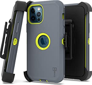 CoverON Rugged Holster Designed for Apple iPhone 12 Pro Max Case (6.7
