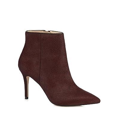 Debenhams J by Jasper Conran Dark Red Leather 'Jordyn' High Stiletto Heel Ankle  Boots