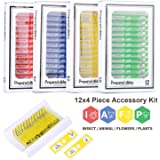 48PCS Kids Plastic Prepared Slides for Microscope of Animals Insects Plants Flowers Sample Specimens for Basic…