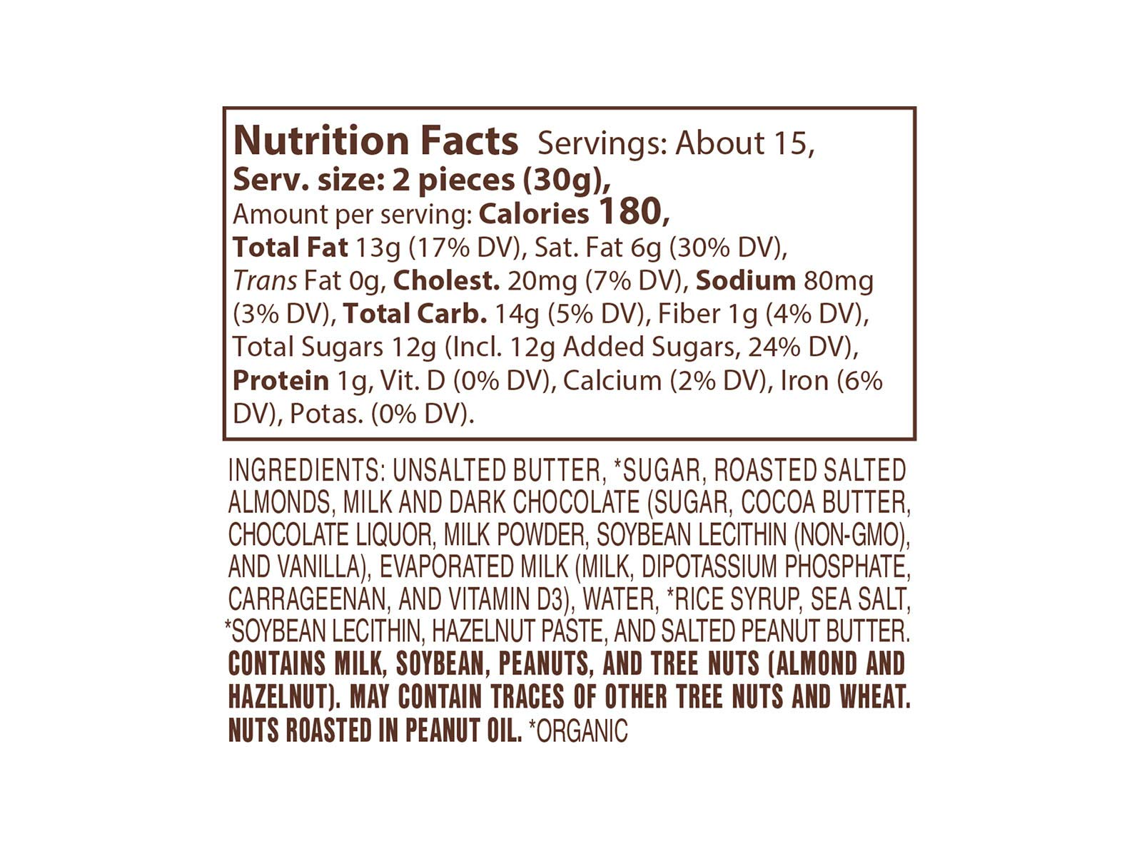 Lake Champlain Chocolates Almond Butter Crunch (English Toffee), 1 Pound by Lake Champlain Chocolates