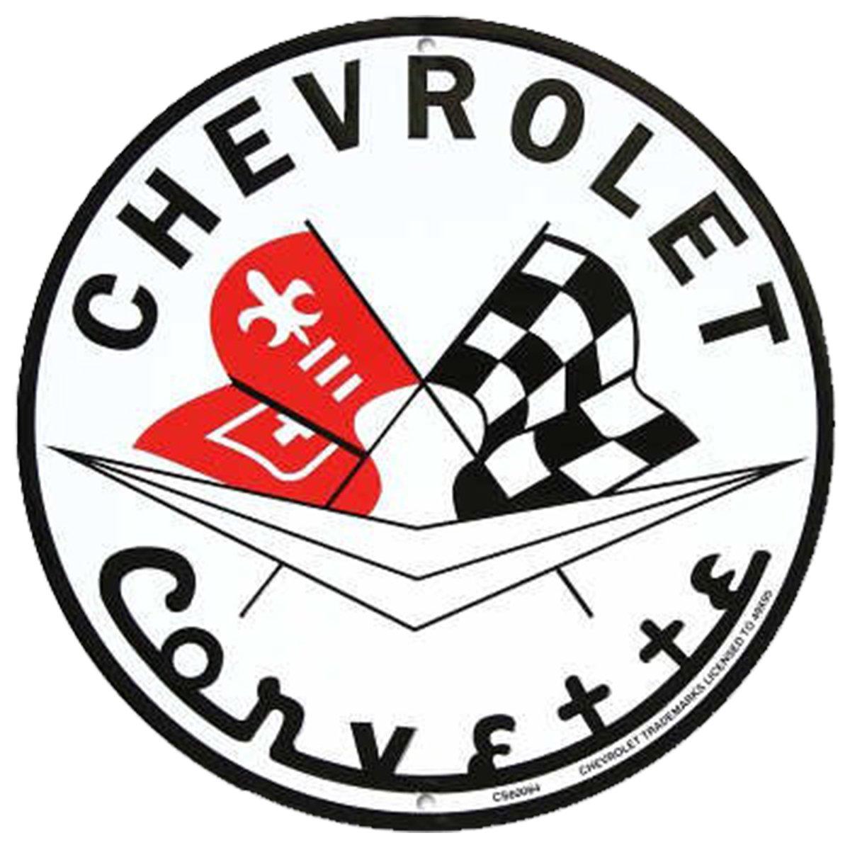Chevrolet Corvette 12 Circle Sign