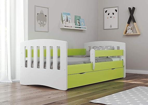 Bjird Classic I - Cama infantil (80 x 160 cm, 80 x 180 cm, con protección anticaídas)