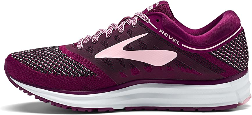 Brooks Revel, Zapatillas de Running para Mujer, Morado (Plum/Pink/Black 1b598), 37.5 EU: Amazon.es: Zapatos y complementos