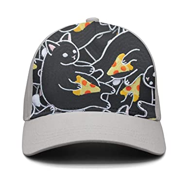 41e350392e3aa Black mr cat hawaiian pizza vegetarian retro snapbacks for womens and mens  cap