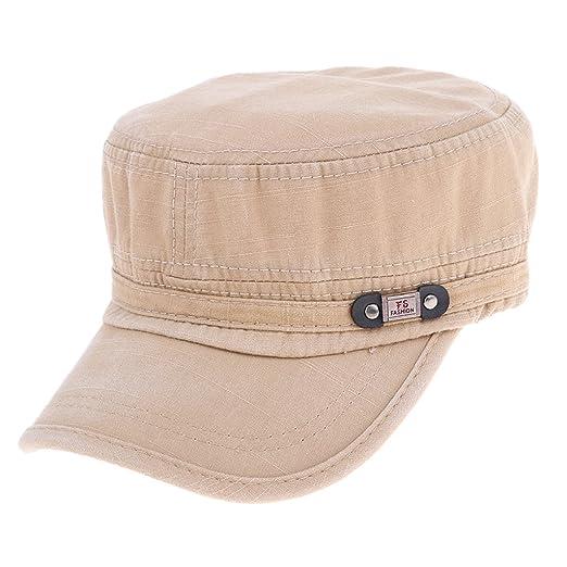 379e5c62b2dd01 ... inexpensive fityle unisex cotton nails army cadet navy sailor hat flat  top cap sun hat beige
