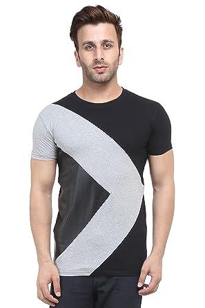 bd247267 acomharc Men's Cotton Self Design T-Shirt: Amazon.in: Clothing ...