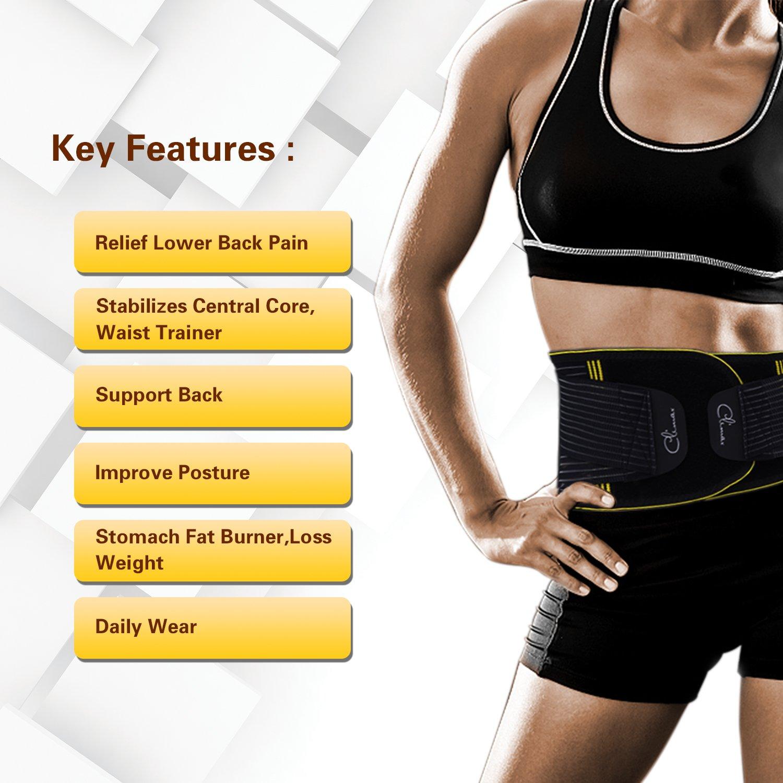 82a0df7a00b Amazon.com  Waist Back Braces Supports Belt