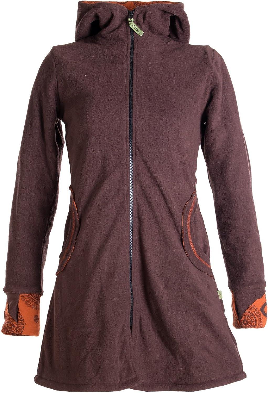 Alternative Bekleidung Warmer Elfen Kurzmantel mit Zipfelkapuze braun-orange 50 Vishes