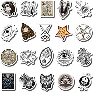 20 PCS Stickers Pack Occult Aesthetic Vinyl Colorful Waterproof for Water Bottle Laptop Bumper Car Bike Luggage Guitar Skateboard