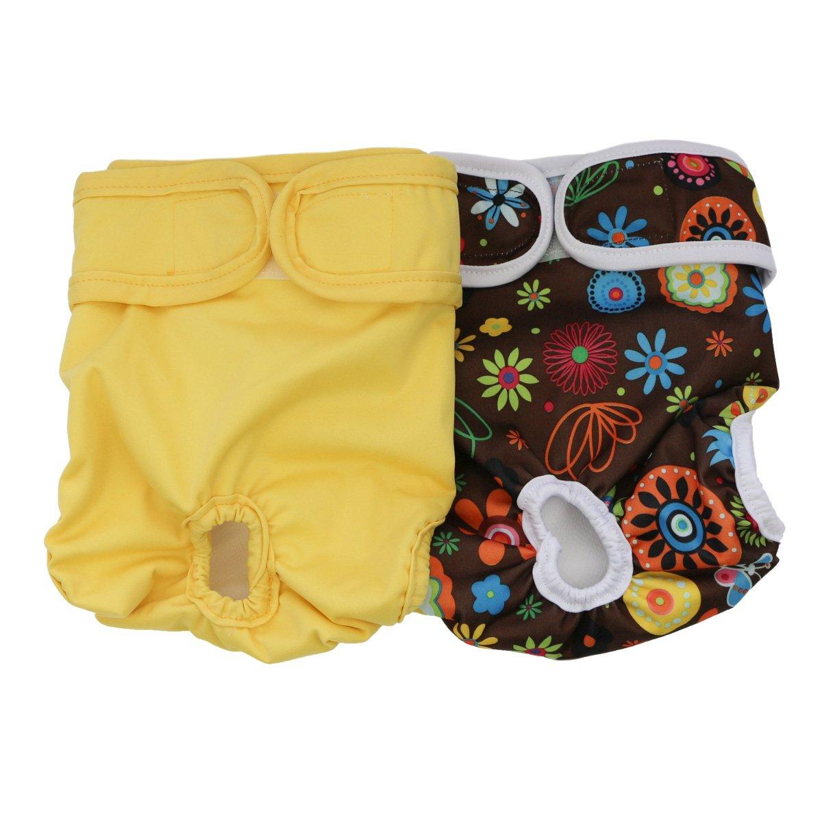 Hisprout Female Dog Diaper Reusable Washable Durable Doggie Diapers Pants(DDFL04)