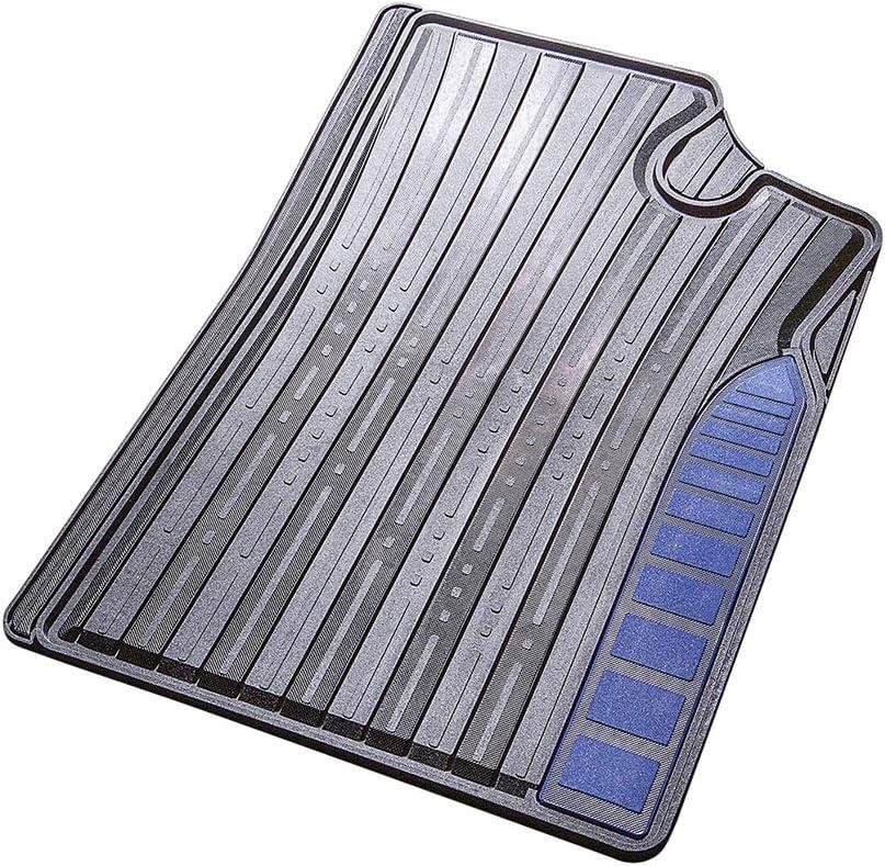 Allwetter Universal Fussmatte mit blauem Einstieg Auto Gummimatten Set ohne Mattenhalter VarioFit 1 CarFashion 282448 Monaco