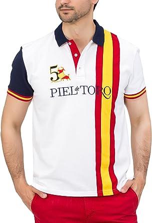 Piel de Toro Bandera España Franja Vertical, Polo para Hombre
