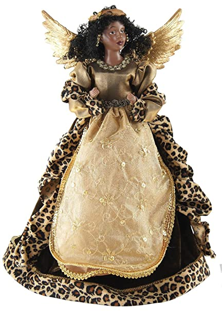Amazon.com: African American Angel Christmas Tree Topper with ...