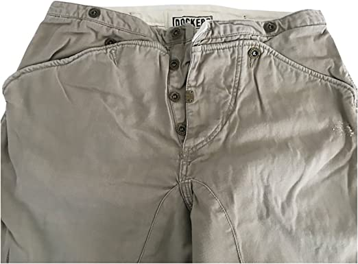 DOCKERS MADE IN HISTORY pantalone uomo replica pantalone da carpentiere anni 50