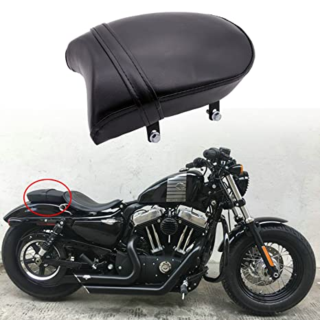 Amazon.com: KaTur Rear Passenger Pillion Pad Seat For Harley ...
