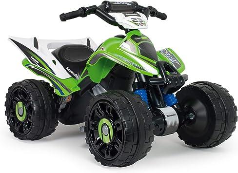 Oferta amazon: INJUSA – Quad Kawasaki ATV de 12V Licenciado con Marcha Atrás y Freno Eléctrico Recomendado a niños +2 Años