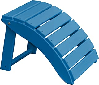 product image for Furniture Barn USA Poly Folding Round Ottoman Footrest - Blue