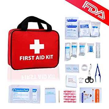 Amazon Com First Aid Kit Home Auto Emergency Safety Kits Personal