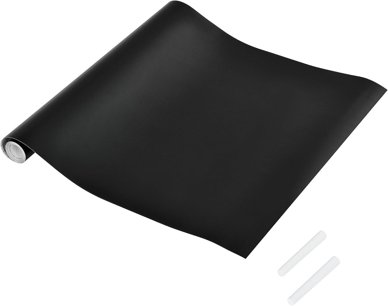 neu.haus Sticker tableau inscriptible Rouleau autoadh/ésive avec craie noir 43x300cm