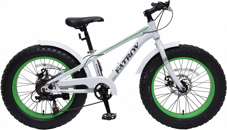 20 Fat Bike Bicicleta infantil 20 pulgadas Stem Niños fatbike ...