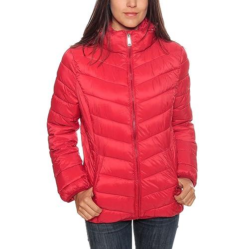 Geographical Norway - Abrigo - para Mujer, Rojo (Rojo), 3: Amazon.es: Zapatos y complementos
