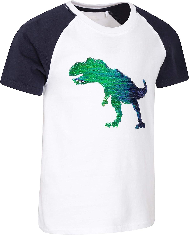 Mountain Warehouse Dinosaur Flip Sequin Kids Tee
