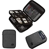 BAGSMART Electronic Organizer, Travel Cable Organizer Double Layer Electronics Accessories Cases Portable for Tablet 7.9…