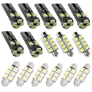 Para VW Passat B6 B7 LED Interior luces LED para interior de Volkswagen coche luces Kit de bombillas blanco 15pcs 2014 - 2018: Amazon.es: Coche y moto