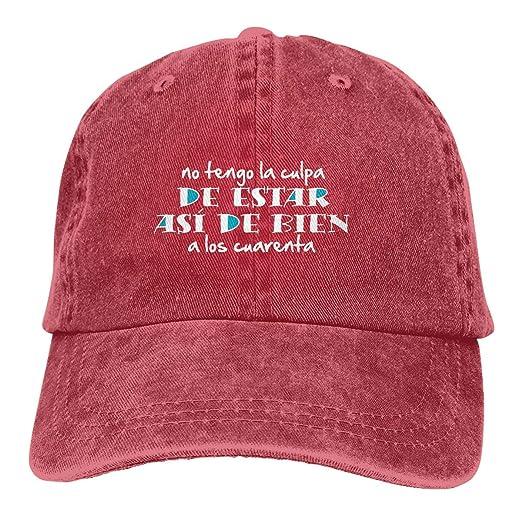 Mens Baseball Hats-Asi De Bien A Los 40 Baseball Caps for Men Women ... 1b8aec26663