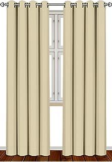 Basics Cortinas opacas con aislamiento t/érmico y alzapa/ños Azul 2 unidades 117 x 137 cm